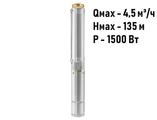Скважинный погружной насос Unipump ЕСО 2-112 глубинный умный центробежный для скважины колодца