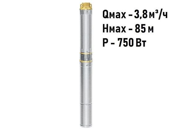 Скважинный погружной насос UNIPUMP ЕСО MINI 2-65 центробежный глубинный для скважины