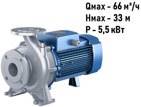 Поверхностный центробежный консольный моноблочный насосPedrollo F 50/160A-INOX с фланцевым соединением,для водоснабжения