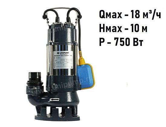Дренажный фекальный насос Unipump FEKAPUMP V750F для грязной воды и канализации