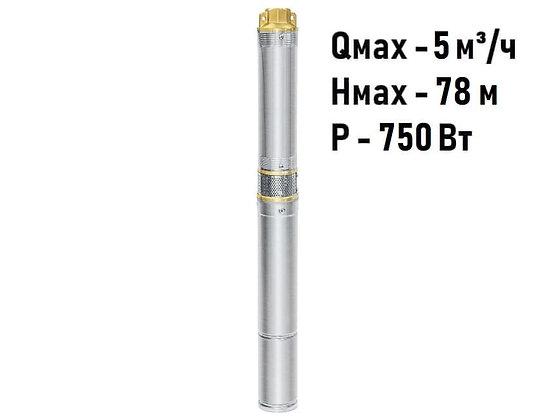 Скважинный погружной насос UNIPUMP ЕСО MINI 3-45 центробежный глубинный для скважины