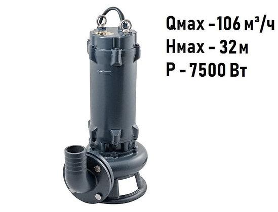 Фекальный дренажный насос Unipump FEKAMAX 100-15-7,5 для грязной воды стоков и канализации
