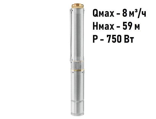Скважинный погружной насос Unipump ЕСО 4-45 глубинный умный центробежный для скважины колодца