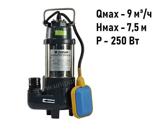 Дренажный фекальный насос Unipump FEKAPUMP V250F для грязной воды и канализации