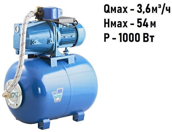 Насосная станция для воды Aquario AUTO AJC-101B (50L) с гидроаккумулятором 50 литров