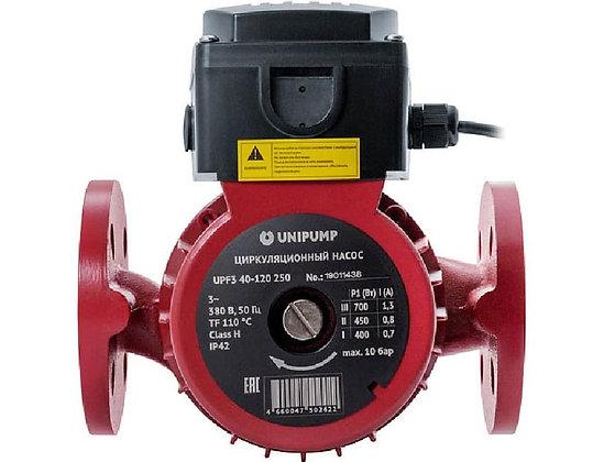 Циркуляционный насос Unipump UPF3 50-120 280 трехфазный 380 В для отопления с фланцевым соединением 40 мм с переключатнлем