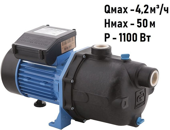 Поверхностный насос для воды ДЖАМБО 70/55 П Джилекс пластик центробежный