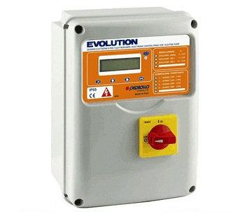 Станция управления Pedrollo EVOLUTION TRI/1 7,5кВт/380В дляпуска, мониторинга и диагностикитрехфазных скважных насосов.