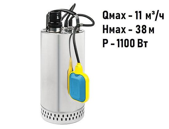 Дренажные погружные насосы Unipump SPSN 1100 F из нержавеющей стали для грязной воды