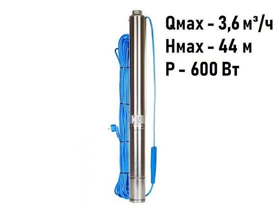Скважинный погружной насос Aquario ASP1.8E-40-90 центробежный умный для воды из скважины колодца