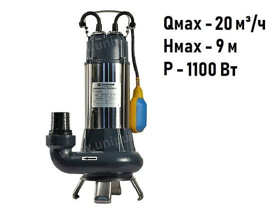 Дренажный фекальный насос Unipump FEKAPUMP V1100F для грязной воды и канализации
