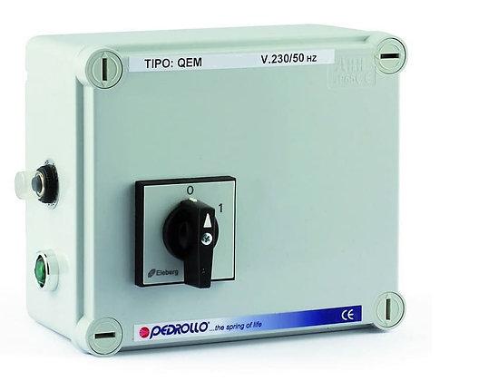 Пульт управления Pedrollo QEM/3 100 0,75 кВт/1ф дляпуска, мониторинга и диагностикиоднофазных скважных насосов.