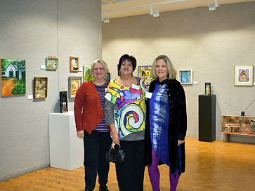 Artists at opening of Stocker Show-2020.