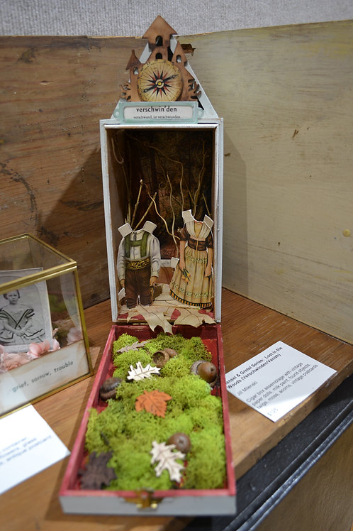 """Hansel & Gretel Series: Lost in the Woods""""  3D assemblage"""