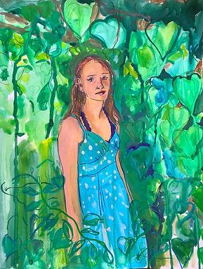 Charlotte-Bower painting for BayArts sho