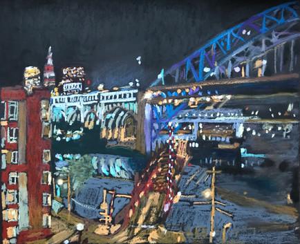 Detroit-Superior Bridge at Night.JPG