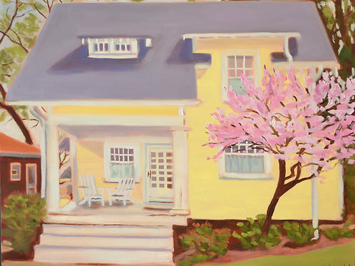 """""""Yellow House in Spring"""" - print-16 x 20"""""""