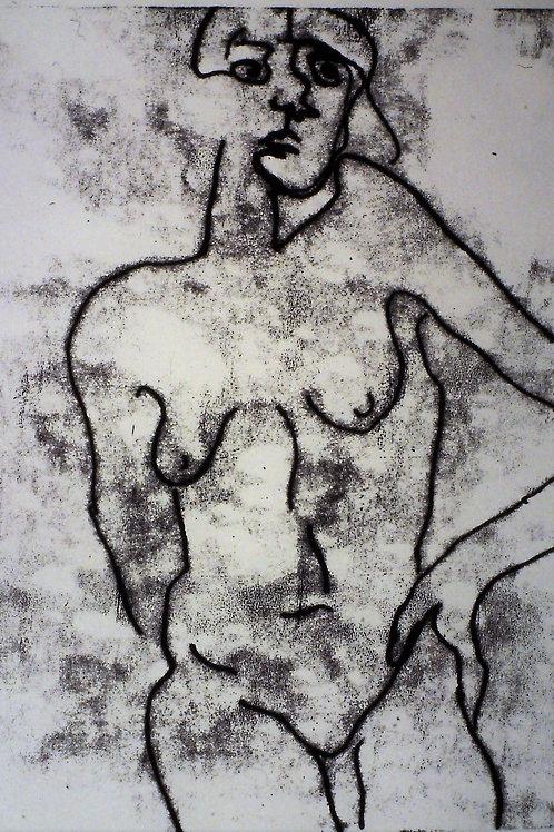 """Nude"" - Monoprint  -18 x 24"""
