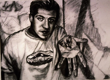 Charcoal-Portrati of Dave at 19.JPG