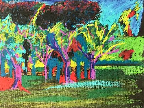 """Fauve Landscape-originalpastel--11 x 14"""""""