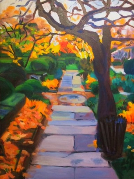 """""""Fall in the Botanical Gardens""""-  Original oil painting 18 x 24"""""""