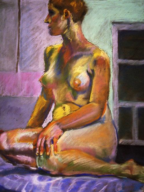 """Studio Nude - Oxbow "" Original pastel 18 x 24"""