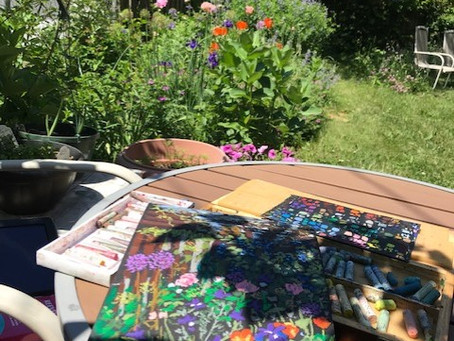 """Sketching Outdoors in """"plein-air"""""""