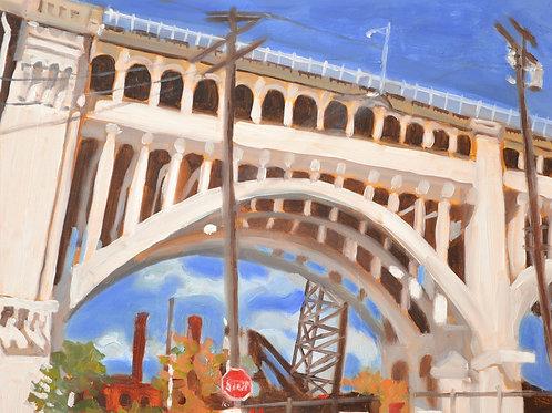"""""""White Bridge-Cleveland""""  - print 11 x 14"""""""