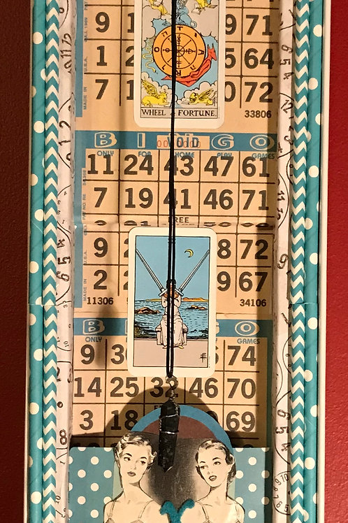 """""""Wheel of Fortune"""" 3D assemblage  - 20 x 5.5"""""""