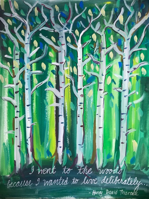"""""""I went to the woods""""   -print 11 x 14"""""""