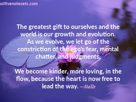 As we Evolve