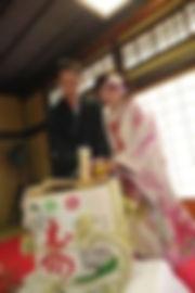 Kagami wari setSAKE BARREL