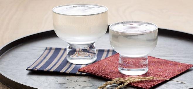 Simple sake glass