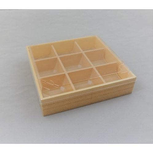 DX Lunch box transparent lid set HW-65E 15 sets