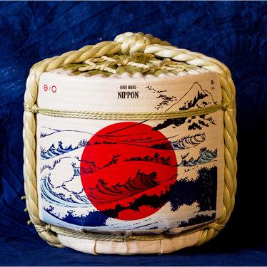 Empty Sake Barrel ③ Hinomaru NIPPON