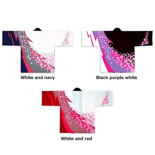 Sakura Arashi pattern Print Happi Free size