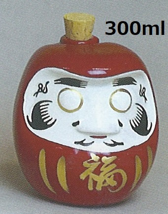 Daruma-san bottle  / Japanese sake bottle
