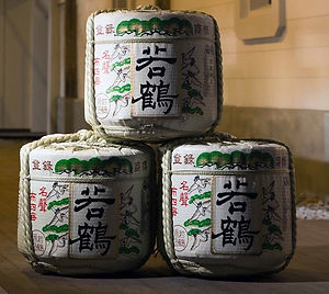 Imitation sake barrel