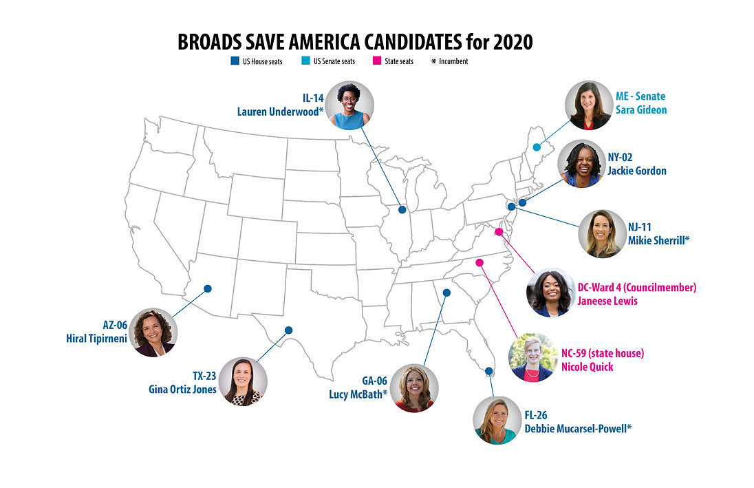 US Map with 2020 candidates faces 3-upda
