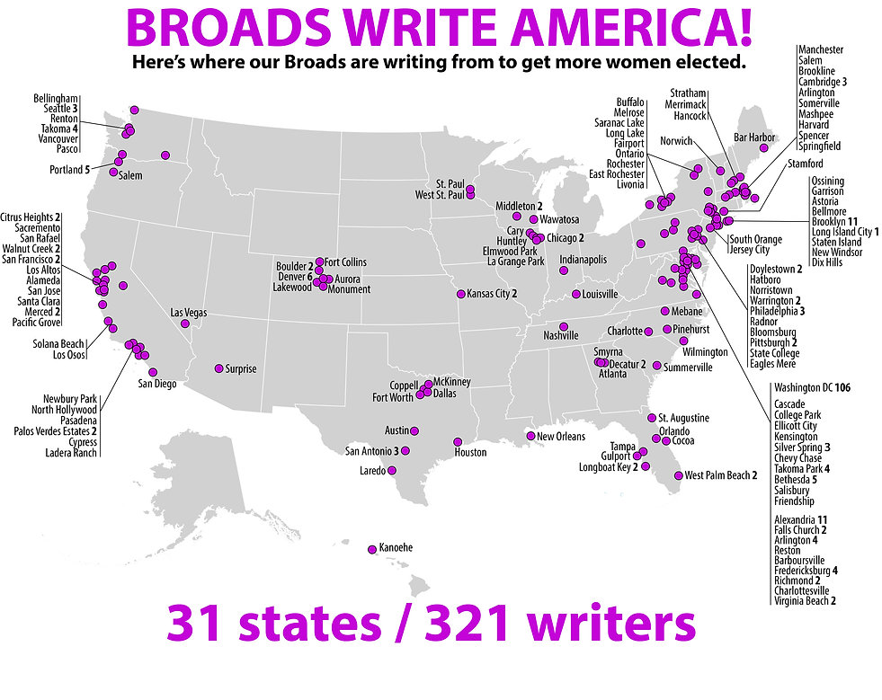 US map-postcard writers-updated through