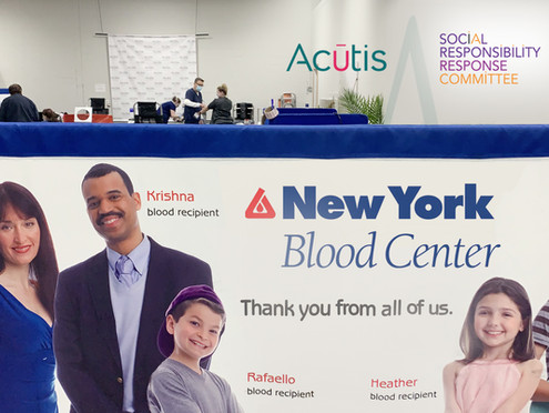 Acutis hosts first blood drive to combat blood bank donation shortages