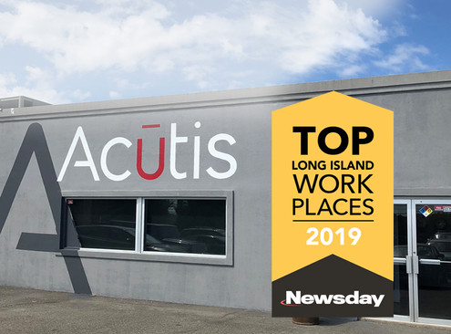 Newsday names Acutis a winner of it's Top Workplaces 2019 Award.