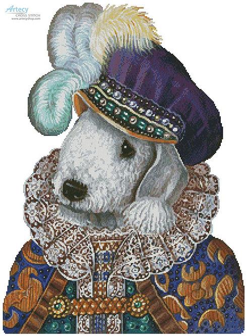 Bedlington Terrier Cross Stitch Pattern (Prince)