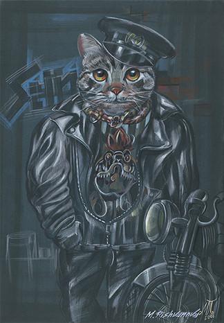 THE CAT BIKER