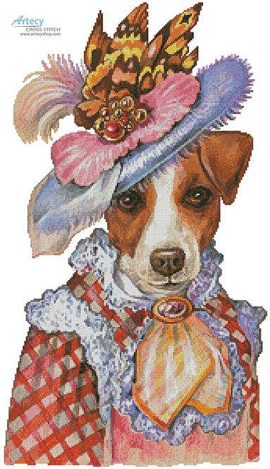 Jack Russell Terrier Cross Stitch Pattern (Mademoiselle)