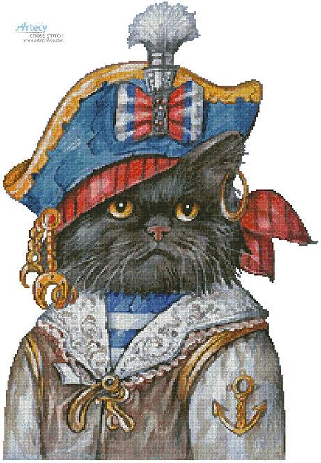 Cat Pirate Cross Stitch Pattern