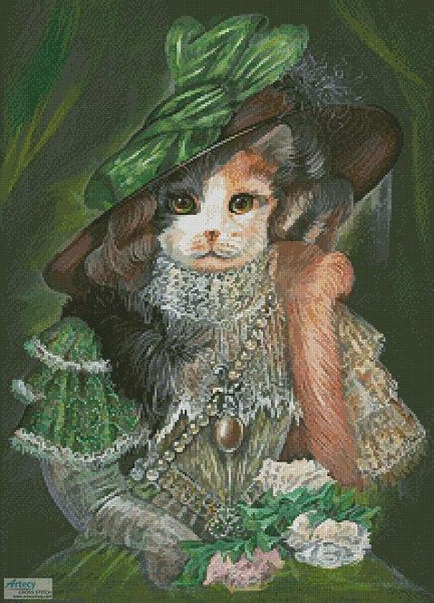 Cat at the Opera Cross Stitch Pattern