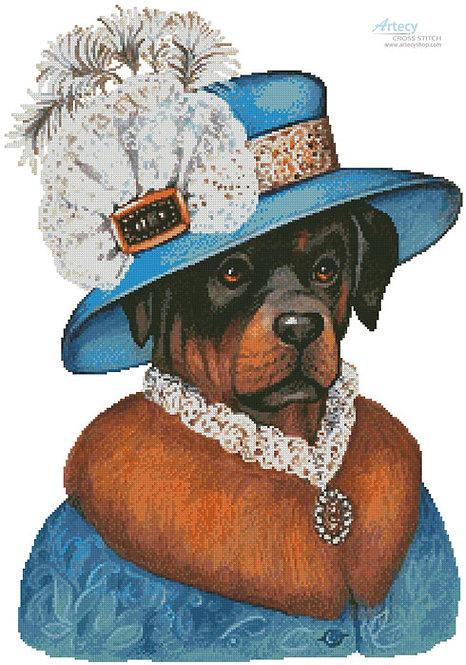Rottweiler Cross Stitch Pattern (Madame)