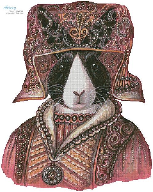 Medieval Rabbit Cross Stitch Pattern