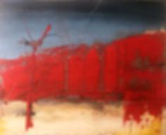 Somewhere 5, huile et acrylique sur planche en bois 66 x 82 cm, copyright Stephane Rebato